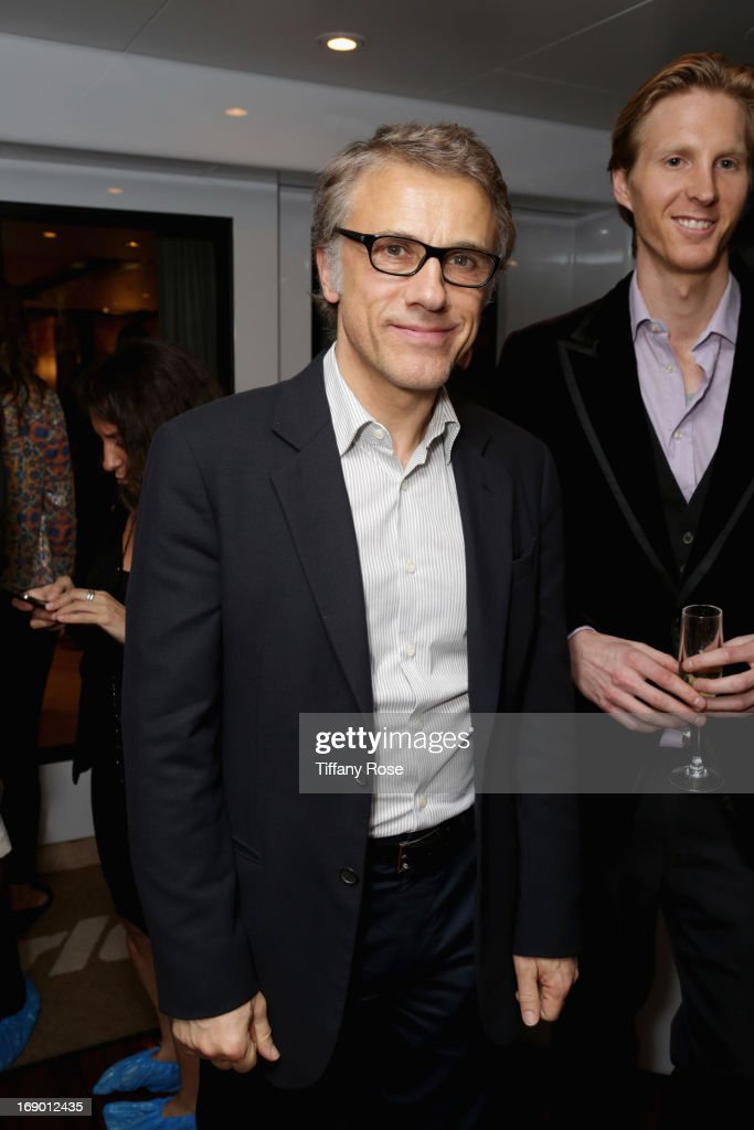 Actor <a gi-track='captionPersonalityLinkClicked' href=/galleries/search?phrase=Christoph+Waltz&family=editorial&specificpeople=4276914 ng-click='$event.stopPropagation()'>Christoph Waltz</a> attends the Zero Theorem Party Hosted by Terry Gilliam The 66th Annual Cannes Film Festival at Torch at Vegaluna Beach Club on May 18, 2013 in Cannes, France.
