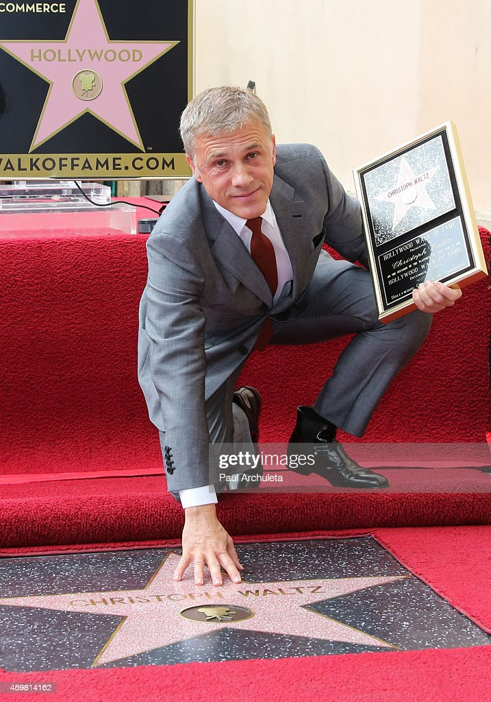 Actor <a gi-track='captionPersonalityLinkClicked' href=/galleries/search?phrase=Christoph+Waltz&family=editorial&specificpeople=4276914 ng-click='$event.stopPropagation()'>Christoph Waltz</a> is honored with a Star on the Hollywood Walk Of Fame on December 1, 2014 in Hollywood, California.