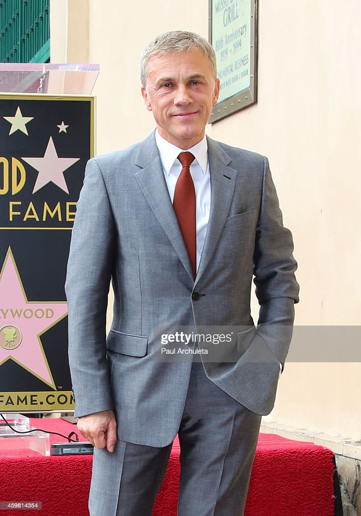 Actor Christoph Waltz is honored with a Star on the Hollywood Walk Of Fame on December 1, 2014 in Hollywood, California.