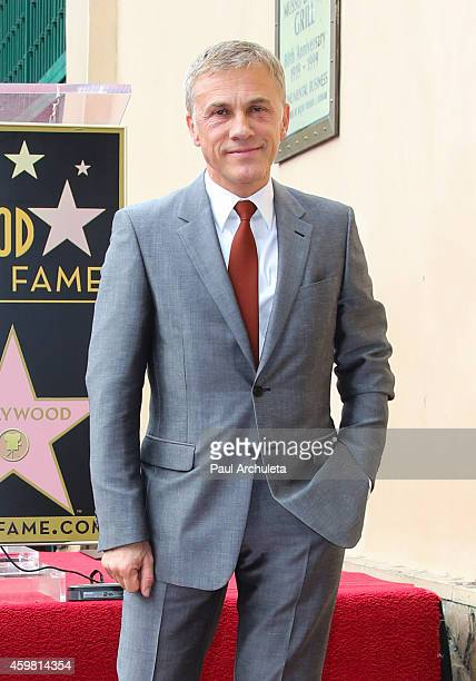 Actor Christoph Waltz is honored with a Star on the Hollywood Walk Of Fame on December 1 2014 in Hollywood California