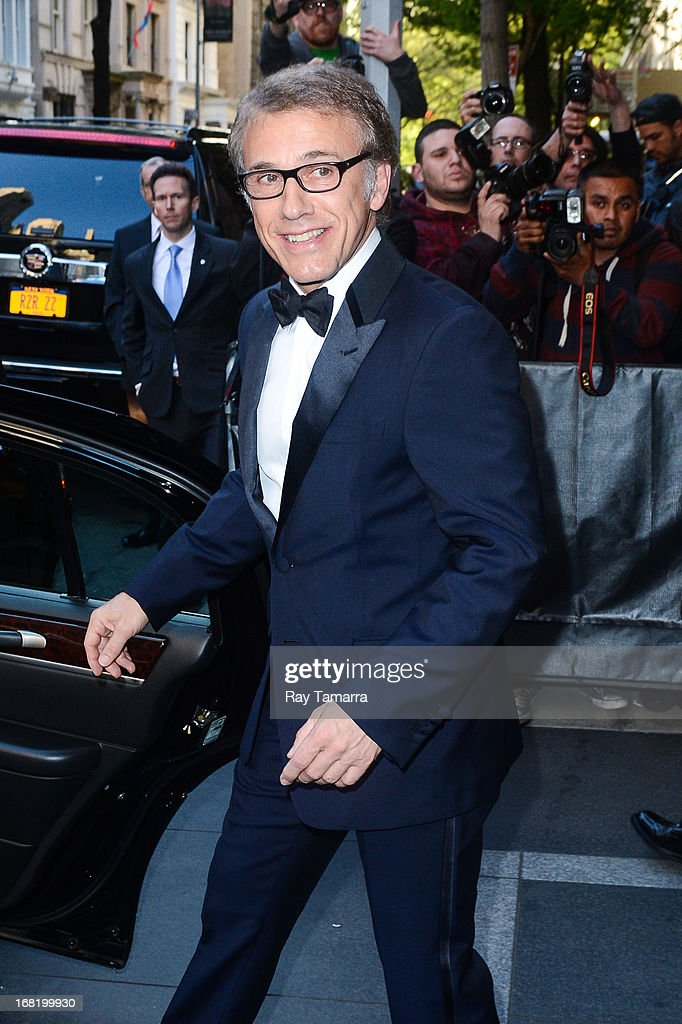 Actor <a gi-track='captionPersonalityLinkClicked' href=/galleries/search?phrase=Christoph+Waltz&family=editorial&specificpeople=4276914 ng-click='$event.stopPropagation()'>Christoph Waltz</a> leaves his Upper East Side hotel on May 6, 2013 in New York City.