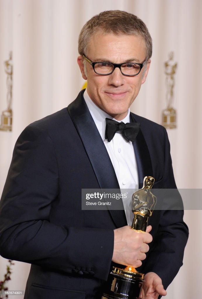 Actor <a gi-track='captionPersonalityLinkClicked' href=/galleries/search?phrase=Christoph+Waltz&family=editorial&specificpeople=4276914 ng-click='$event.stopPropagation()'>Christoph Waltz</a> poses in the press room during the Oscars at the Loews Hollywood Hotel on February 24, 2013 in Hollywood, California.