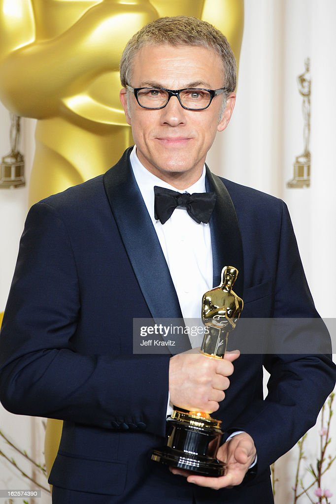 Actor <a gi-track='captionPersonalityLinkClicked' href=/galleries/search?phrase=Christoph+Waltz&family=editorial&specificpeople=4276914 ng-click='$event.stopPropagation()'>Christoph Waltz</a> poses in the press room during the Oscars at Loews Hollywood Hotel on February 24, 2013 in Hollywood, California.