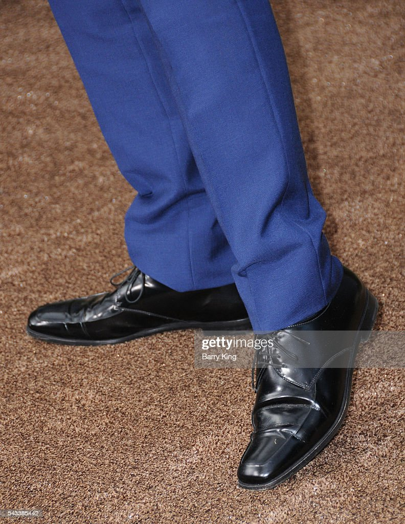 Actor Christoph Waltz, shoe detail, attends the premiere of Warner Bros. Pictures' 'The Legend Of Tarzan' at Dolby Theatre on June 27, 2016 in Hollywood, California.