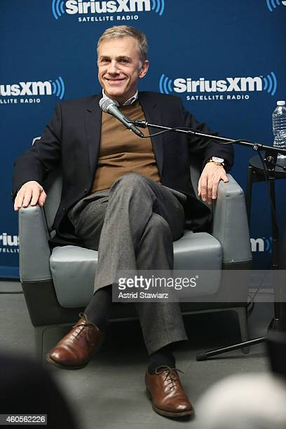 Actor Christoph Waltz speaks to EW Radio host Julia Cunningham during SiriusXM Town Hall With Christoph Waltz at SiriusXM Studios on December 16 2014...