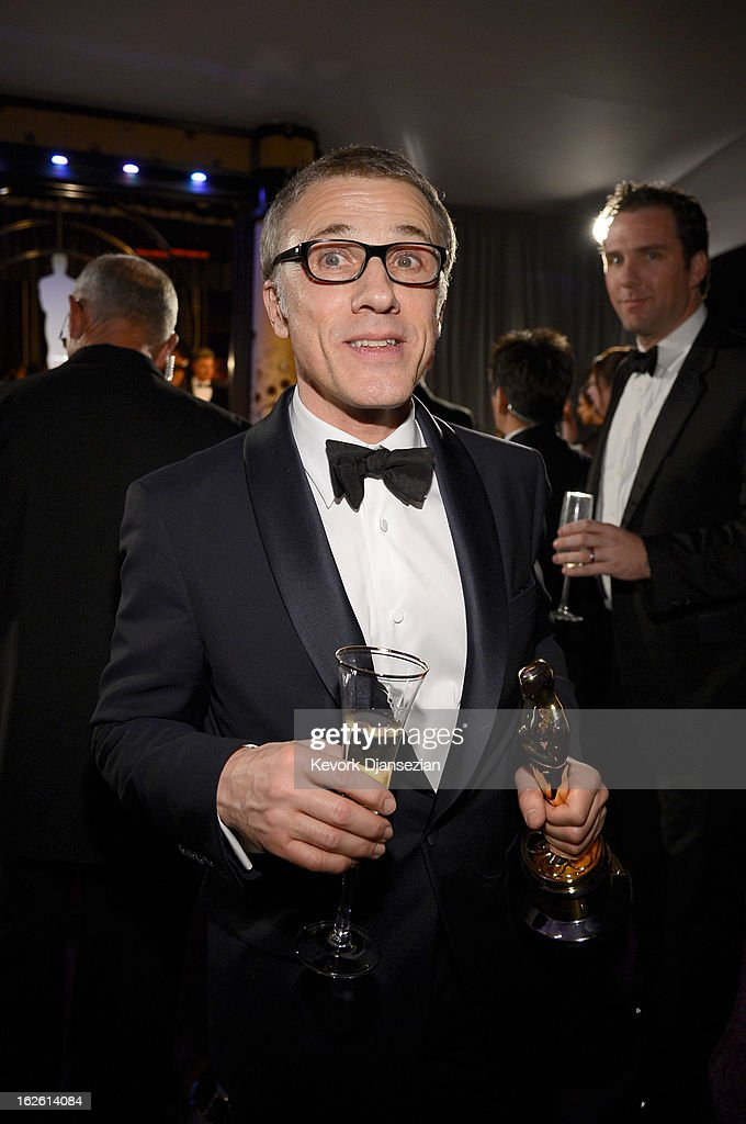 Actor Christoph Waltz, winner of the Best Supporting Actor award for 'Django Unchained,' attends the Oscars Governors Ball at Hollywood & Highland Center on February 24, 2013 in Hollywood, California.