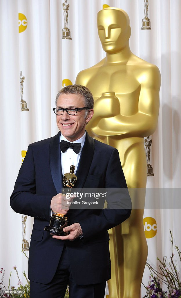 Actor Christoph Waltz, winner of the Best Supporting Actor award for 'Django Unchained,' in the press room during the 85th Annual Academy Awards at Loews Hollywood Hotel on February 24, 2013 in Hollywood, California.