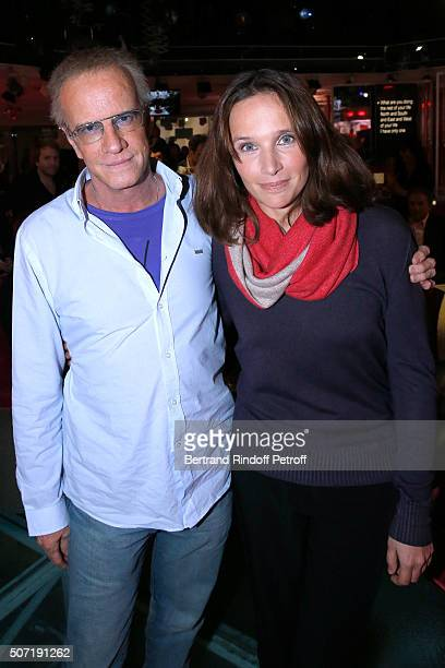 Actor Christophe Lambert and Pianist Helene Grimaud attend the 'Vivement Dimanche' French TV Show at Pavillon Gabriel on January 27 2016 in Paris...