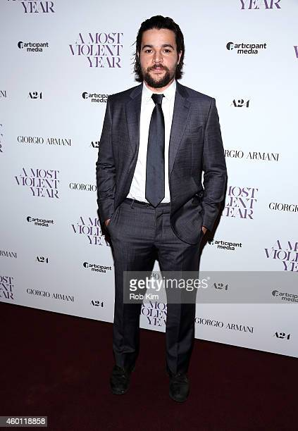 Actor Christopher Abbott attends Giorgio Armani Presents The New York Premiere Of A24's 'A Most Violent Year' at Florence Gould Hall Theater on...