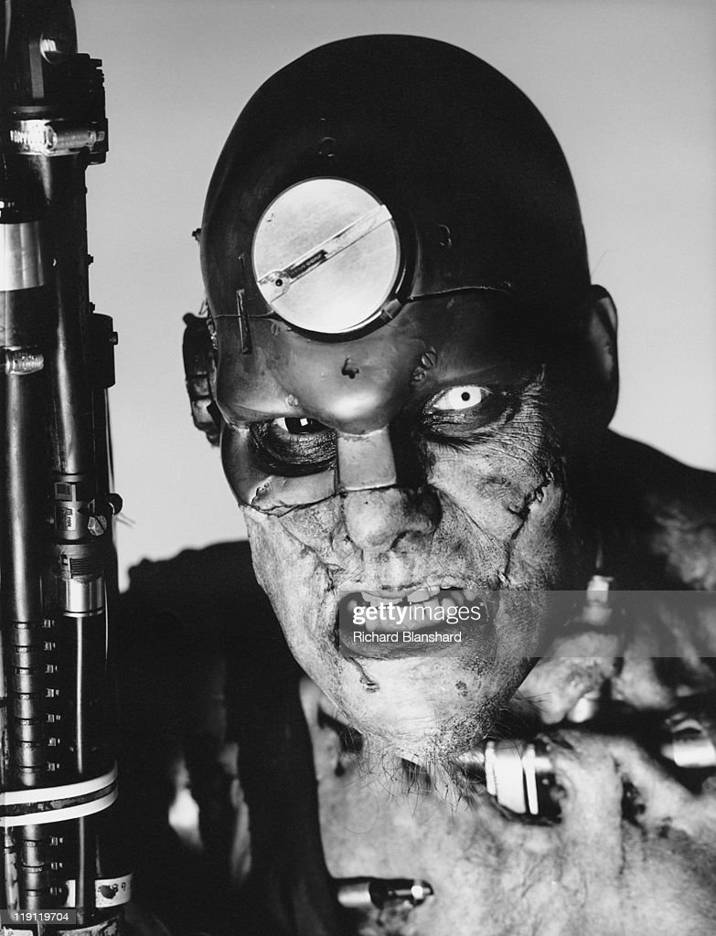 Actor Christopher Adamson as Mean Machine Angel in the dystopian sci-fi film 'Judge Dredd', 1995.