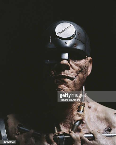 Actor Christopher Adamson as Mean Machine Angel in the dystopian scifi film 'Judge Dredd' 1995