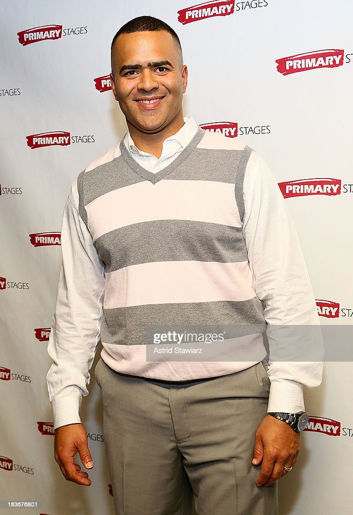 Actor Christopher Jackson attends the 'Bronx Bombers' opening night after Party at West Bank Cafe on October 8, 2013 in New York City.