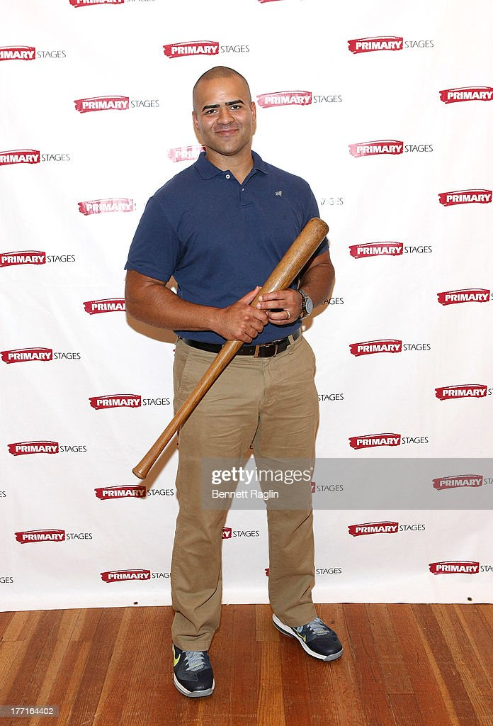 Actor Christopher Jackson attends the cast meet and greet for the upcoming Off-Broadway production 'Bronx Bombers' at Playwrights Horizons Rehearsal Studios on August 21, 2013 in New York City.
