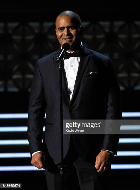 Actor Christopher Jackson performs onstage during the 69th Annual Primetime Emmy Awards at Microsoft Theater on September 17 2017 in Los Angeles...