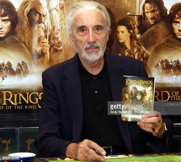 Actor Christopher Lee during a signing of the new Lord of the Rings DVD at Forbidden Planet New Oxford Street Peter Jackson's highly acclaimed...