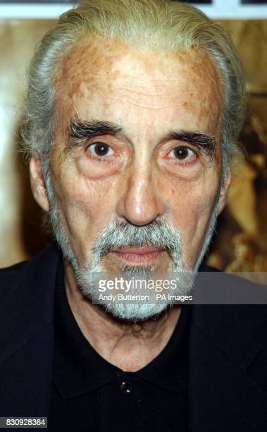 Actor Christopher Lee during a signing of the new Lord of the Rings DVD at Forbidden Planet New Oxford Street in London Peter Jackson's highly...