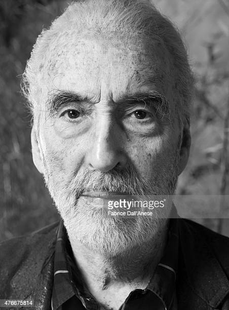 Actor Christopher Lee is photographer for Vanity Fair Italy on May 15 2009 in Rome Italy
