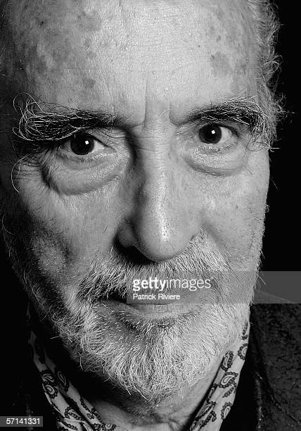 Actor Christopher Lee poses for photograph during the Bangkok International Film Festival at Siam Paragon Festival Venue on February 20 2006 in...