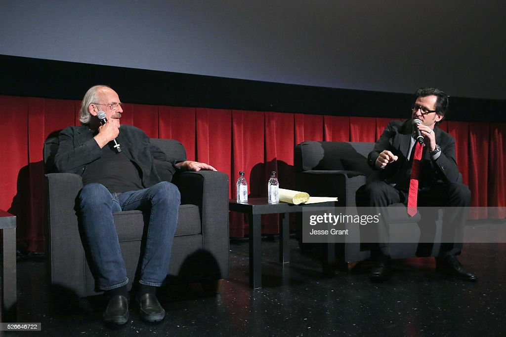 Actor Christopher Lloyd (L) and Radio & TV personality Ben Mankiewicz speak onstage at 'One Flew Over the Cuckoo's Nest' screening during day 3 of the TCM Classic Film Festival 2016 on April 30, 2016 in Los Angeles, California. 25826_009