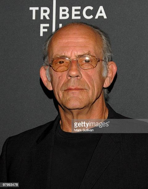 Actor Christopher Lloyd arrives at 2010 Tribeca Film Festival program and launch party at W Hollywood on March 23 2010 in Hollywood California