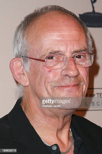 Actor Christopher Lloyd arrives at 'An Evening Honoring James Burrows' at Academy of Television Arts Sciences on October 7 2013 in North Hollywood...