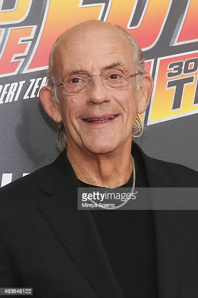 Actor Christopher Lloyd attends 'Back To The Future' New York Special Anniversary screening at AMC Loews Lincoln Square on October 21 2015 in New...