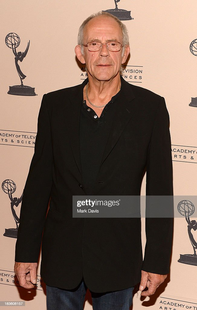 Actor <a gi-track='captionPersonalityLinkClicked' href=/galleries/search?phrase=Christopher+Lloyd+-+Actor&family=editorial&specificpeople=226550 ng-click='$event.stopPropagation()'>Christopher Lloyd</a> attends The Academy Of Television Arts & Sciences' Presents An Evening Honoring James Burrows held at the Academy of Television Arts & Sciences on October 7, 2013 in North Hollywood, California.