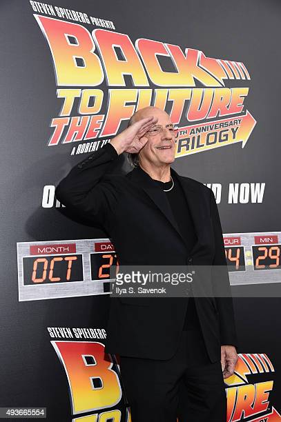 Actor Christopher Lloyd attends the Back to the Future reunion with fans in celebration of the Back to the Future 30th Anniversary Trilogy on Bluray...