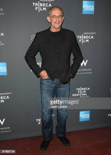 Actor Christopher Lloyd attends the Tribeca Film launch event and 2010 Tribeca Film Festival celebration at Station Hollywood at W Hollywood Hotel on...