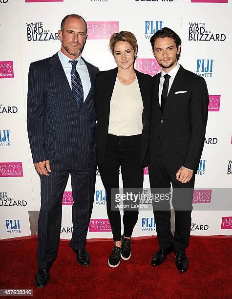 Actor Christopher Meloni actress Shailene Woodley and actor Shiloh Fernandez attend the premiere of 'White Bird in a Blizzard' at ArcLight Hollywood...
