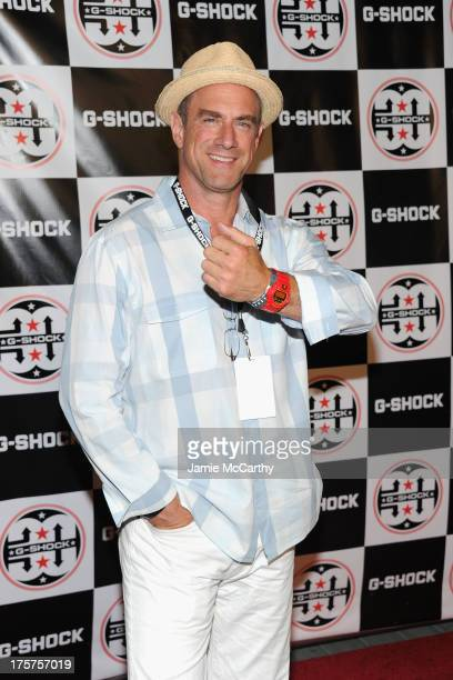 Actor Christopher Meloni attends GShock Shock The World 2013 at Basketball City on August 7 2013 in New York City