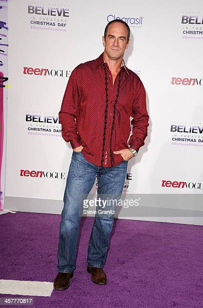 Actor Christopher Meloni attends 'Justin Bieber's Believe' world premiere at Regal Cinemas LA Live on December 18 2013 in Los Angeles California