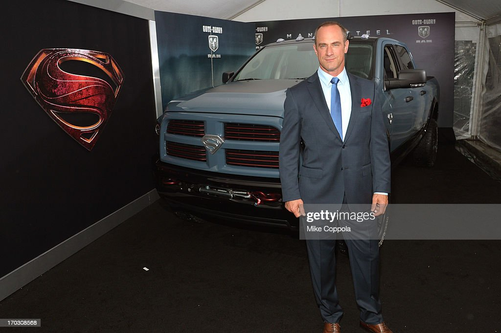 Actor <a gi-track='captionPersonalityLinkClicked' href=/galleries/search?phrase=Christopher+Meloni&family=editorial&specificpeople=220830 ng-click='$event.stopPropagation()'>Christopher Meloni</a> attends the 'Man of Steel' NYC premiere sponsored by RAM at Alice Tully Hall at Lincoln Center on June 10, 2013 in New York City.