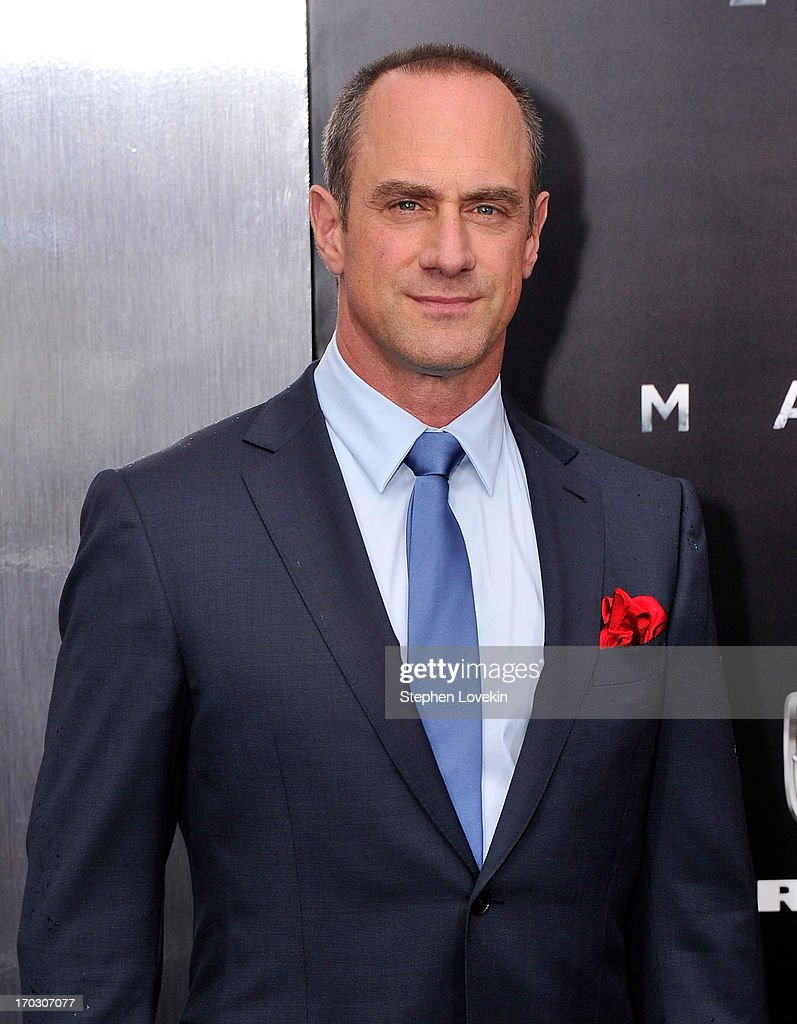 Actor <a gi-track='captionPersonalityLinkClicked' href=/galleries/search?phrase=Christopher+Meloni&family=editorial&specificpeople=220830 ng-click='$event.stopPropagation()'>Christopher Meloni</a> attends the 'Man Of Steel' world premiere at Alice Tully Hall at Lincoln Center on June 10, 2013 in New York City.