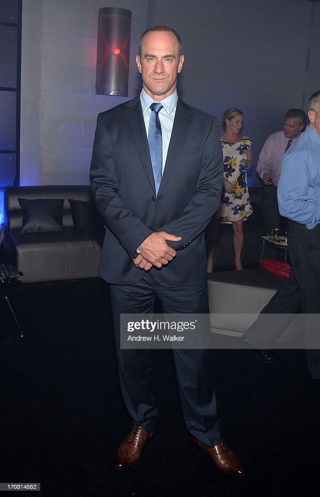 Actor <a gi-track='captionPersonalityLinkClicked' href=/galleries/search?phrase=Christopher+Meloni&family=editorial&specificpeople=220830 ng-click='$event.stopPropagation()'>Christopher Meloni</a> attends the 'Man Of Steel' world premiere after party at Skylight at Moynihan Station on June 10, 2013 in New York City.