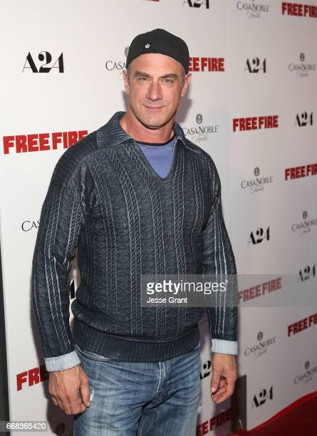 Actor Christopher Meloni attends the premiere of A24's 'Free Fire' at ArcLight Hollywood on April 13 2017 in Hollywood California