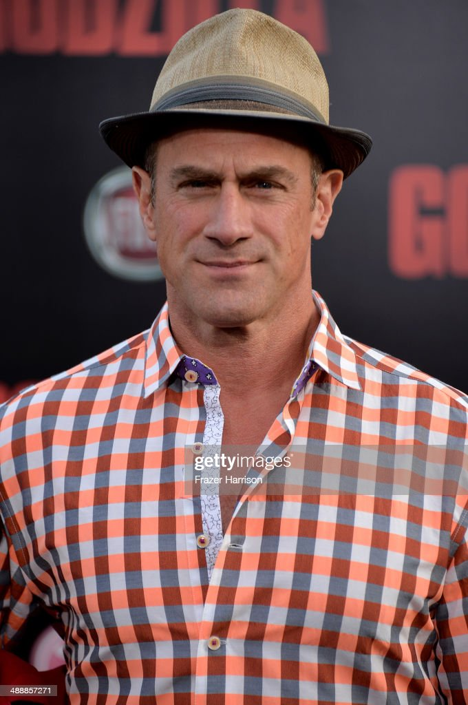 Actor <a gi-track='captionPersonalityLinkClicked' href=/galleries/search?phrase=Christopher+Meloni&family=editorial&specificpeople=220830 ng-click='$event.stopPropagation()'>Christopher Meloni</a> attends the premiere of Warner Bros. Pictures and Legendary Pictures' 'Godzilla' at Dolby Theatre on May 8, 2014 in Hollywood, California.