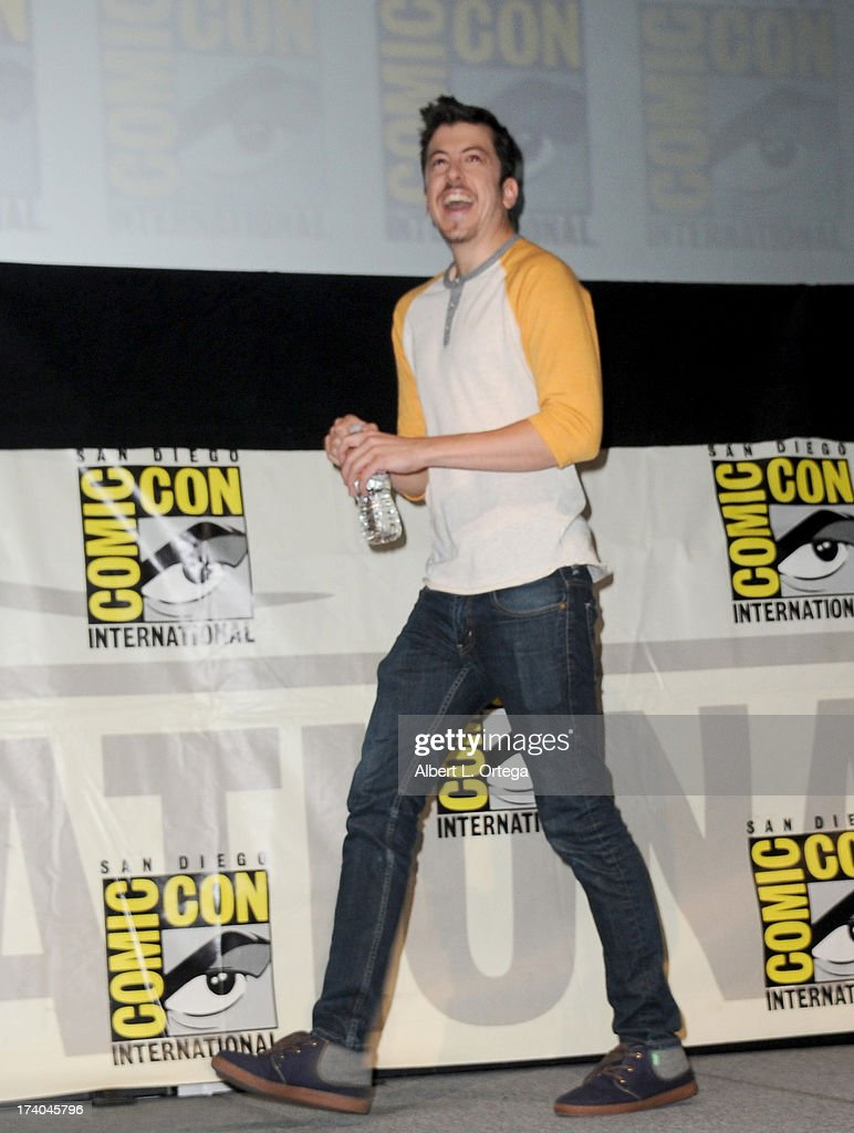 Actor Christopher Mintz-Plasse speaks onstage at the 'Kick-Ass 2' and 'Riddick' Panels during Comic-Con International 2013 at San Diego Convention Center on July 19, 2013 in San Diego, California.