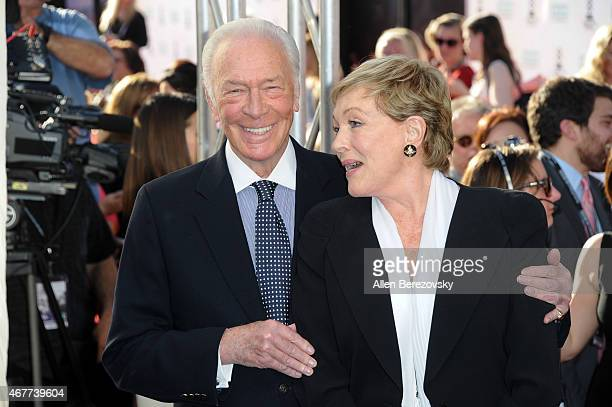 Actor Christopher Plummer and actress Julie Andrews attend the 2015 TCM Classic Film Festival's opening night gala premiere of 50th Anniversary of...