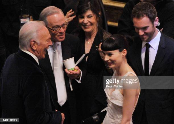 Actor Christopher Plummer and actress Rooney Mara attend the 84th Annual Academy Awards held at the Hollywood Highland Center on February 26 2012 in...
