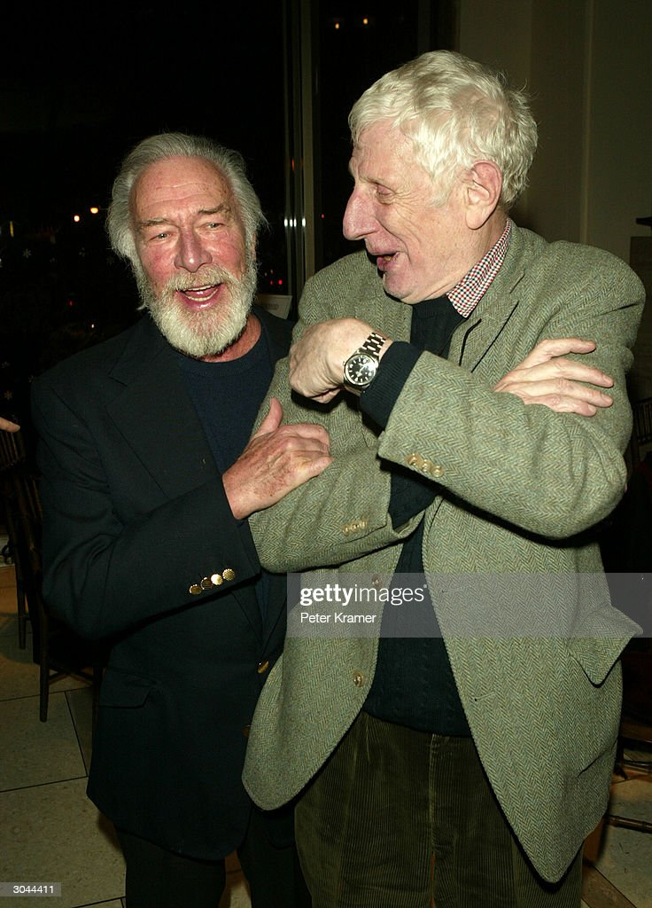 Actor Christopher Plummer and director Jonathan Miller attend the after party for Lincoln Centers opening night of 'King Lear' on March 4 2004 in New...