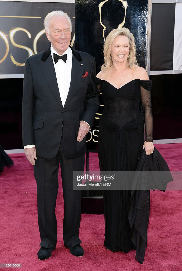 Actor Christopher Plummer (L) and Elaine Taylor arrive at the Oscars at Hollywood & Highland Center on February 24, 2013 in Hollywood, California.