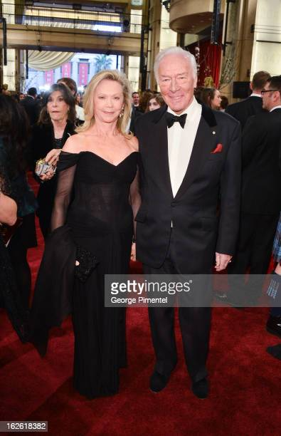 Actor Christopher Plummer and Elaine Taylor arrive at the Oscars at Hollywood Highland Center on February 24 2013 in Hollywood California at...