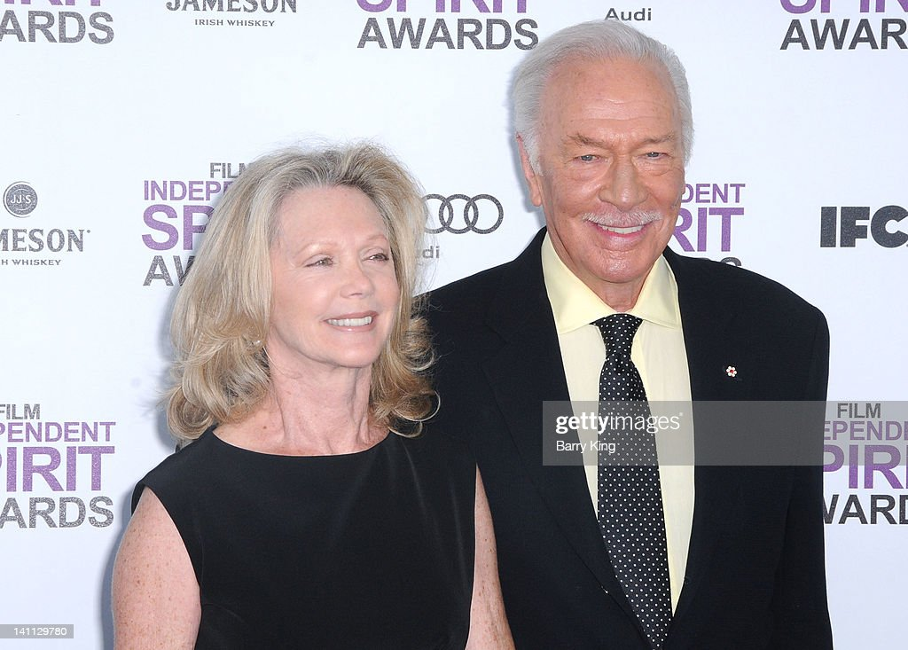 Actor Christopher Plummer (R) and his wife Elaine Taylor arrive at the 2012 Film Independent Spirit Awards at Santa Monica Pier on February 25, 2012 in Santa Monica, California.