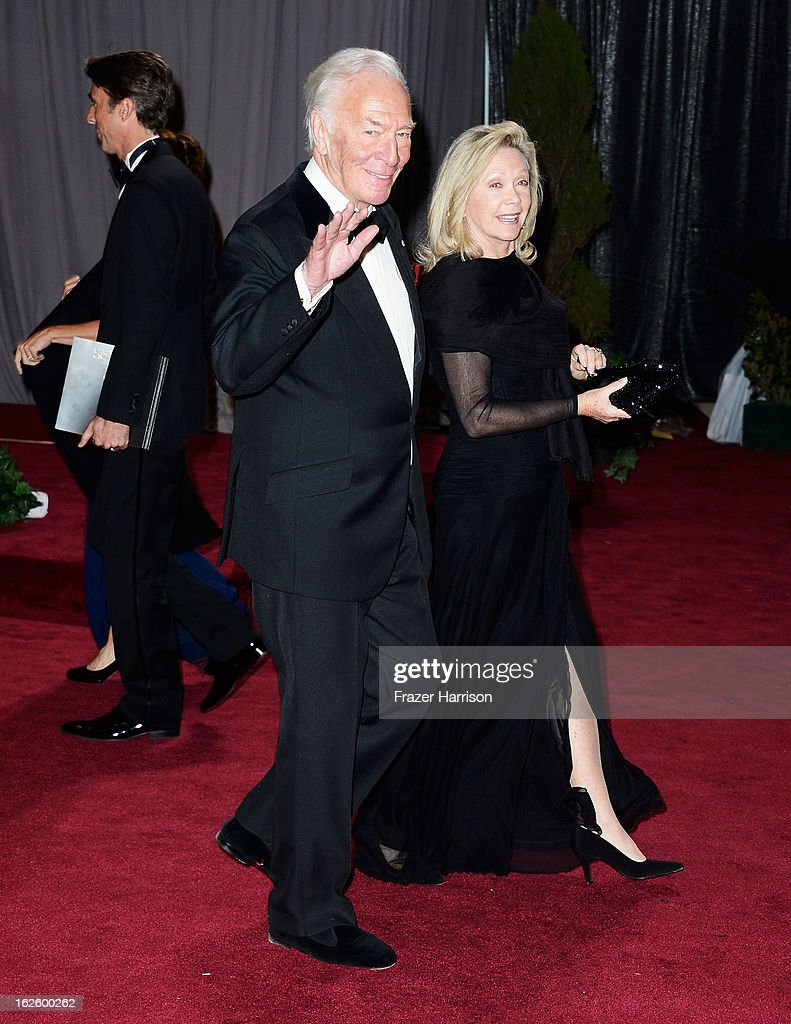 Actor Christopher Plummer and wife Elaine Taylor departs the Oscars at Hollywood & Highland Center on February 24, 2013 in Hollywood, California.