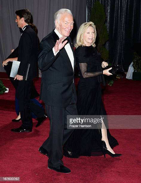 Actor Christopher Plummer and wife Elaine Taylor departs the Oscars at Hollywood Highland Center on February 24 2013 in Hollywood California