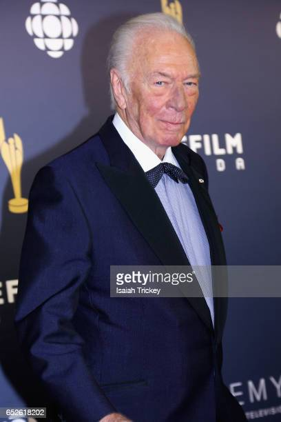 Actor Christopher Plummer attends the Academy of Canadian Cinema Television's 2017 Canadian Screen Awards at the Sony Centre for Performing Arts on...