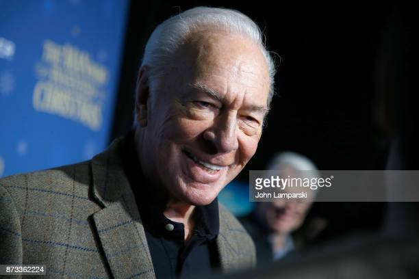 Actor Christopher Plummer attends 'The Man Who Invented Christmas' New York Screening at Florence Gould Hall on November 12 2017 in New York City