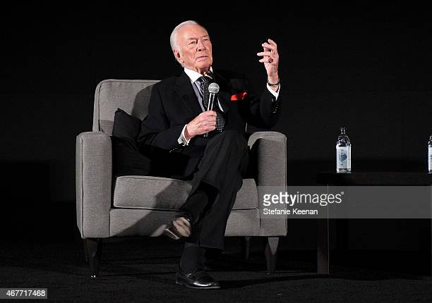 Actor Christopher Plummer speaks onstage during the Opening Night Gala and screening of The Sound of Music during the 2015 TCM Classic Film Festival...