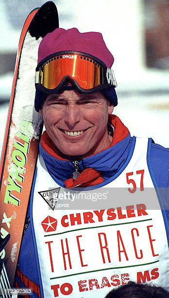 Actor Christopher Reeve in skiing gear circa 1992